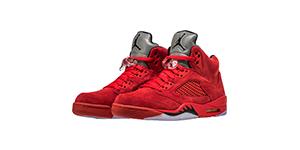 Jordan 5 Red Suede