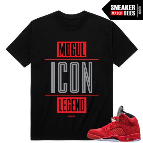 Air Jordan 5 Sneakers match Red Suede shirt