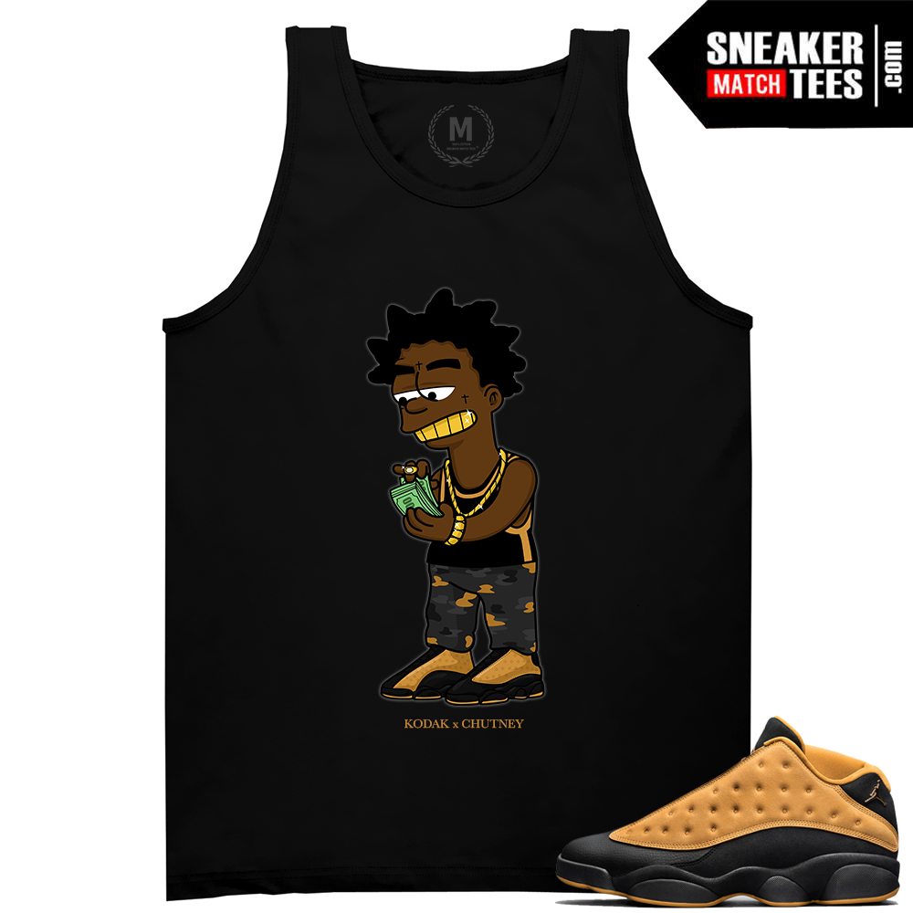 b85983f63a7e Match Air Jordan 13 Chutney Savage Black T Shirt