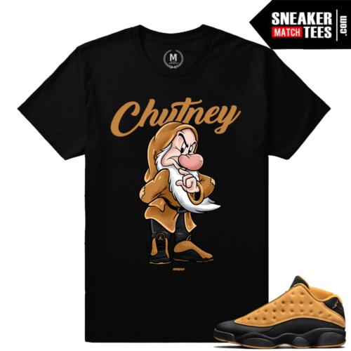 """Jordan 13 Chutney shirts to match """"Chutney"""" Black Sneaker Tees Shirt"""