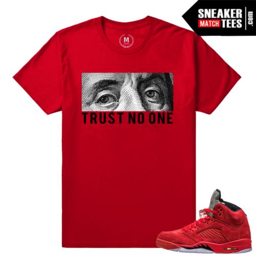 Jordan 5 Shirt match Jordan 5 Red Suede