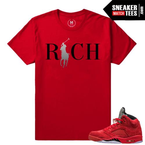 Jordan 5 shirt match Red 5s