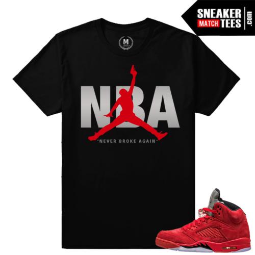 Jordan 5 shirts match All Red Jordan 5