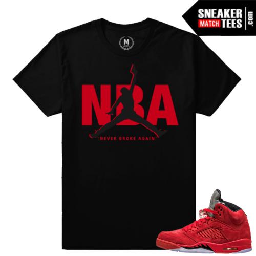 Jordan retro 5 t shirts