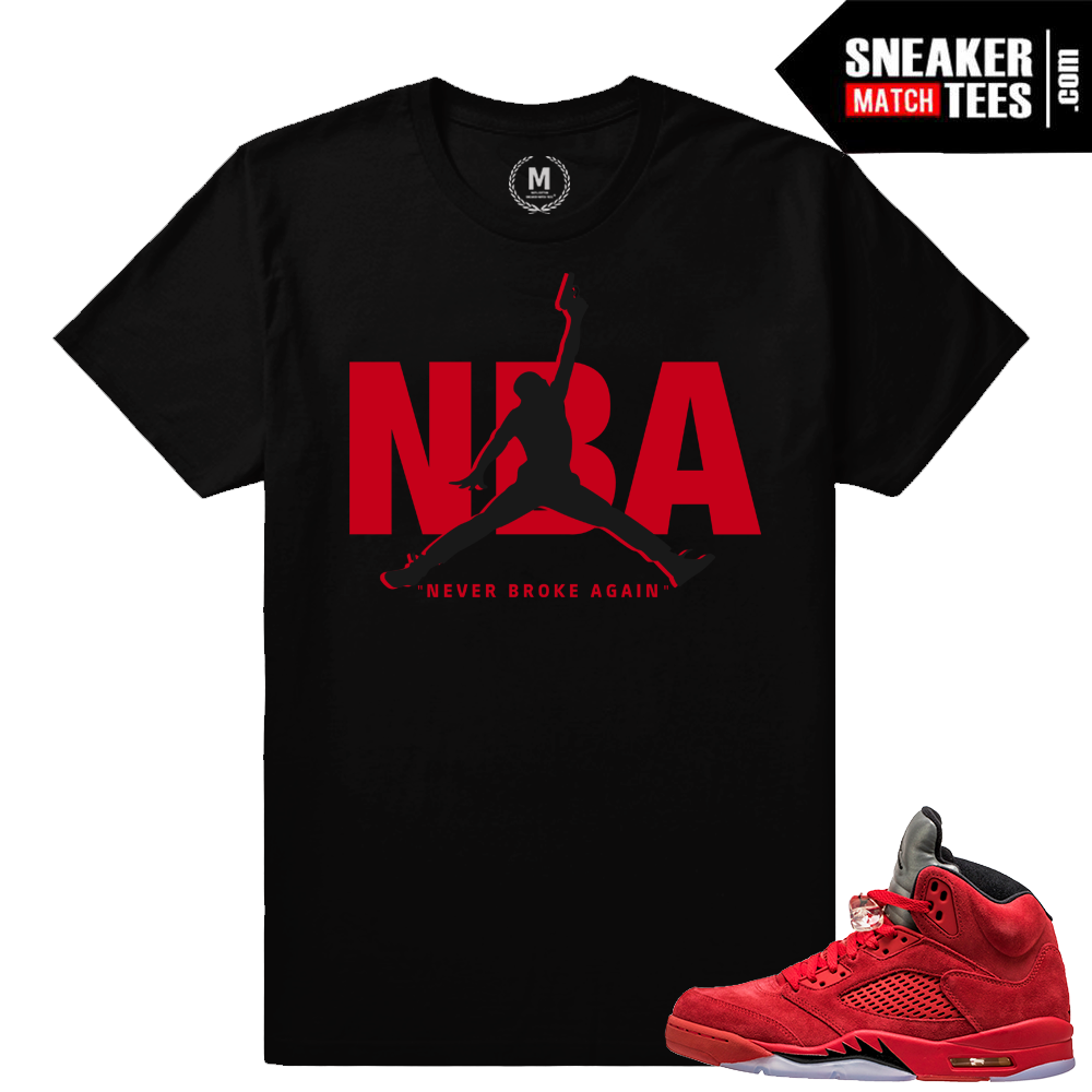 8463e99010e1 Jordan retro 5 t shirts – Never Broke Again – Black