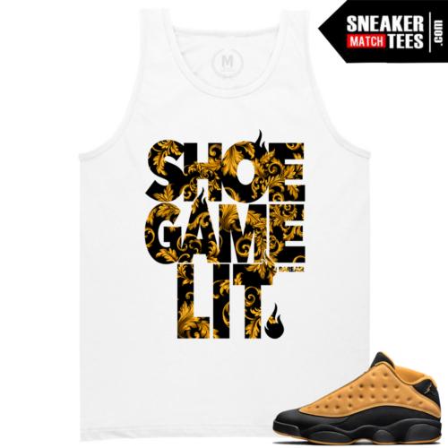 Match Jordan T shirt Chutney 13s