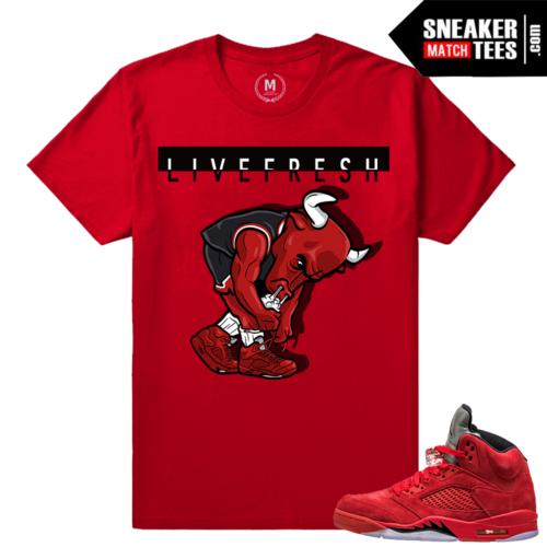 Red Jordans matching Sneaker Tees
