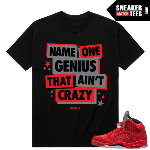 Red Suede 5 Retro sneaker tees
