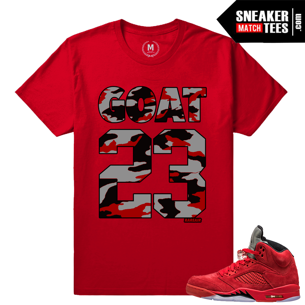 1a412a3b45e25a Red Suede 5s Sneaker Matching Tees Shirts - SneakerMatchTees.com