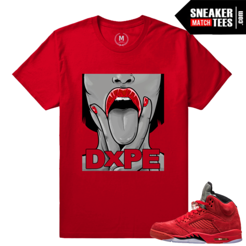 Red Suede 5s Sneakertee Shirt