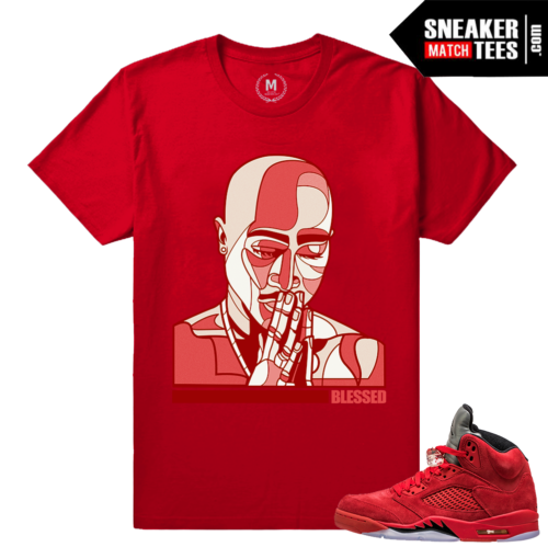 Retro 5 sneaker t shirt Red
