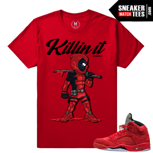 Sneaker tees matching Red Suede 5s