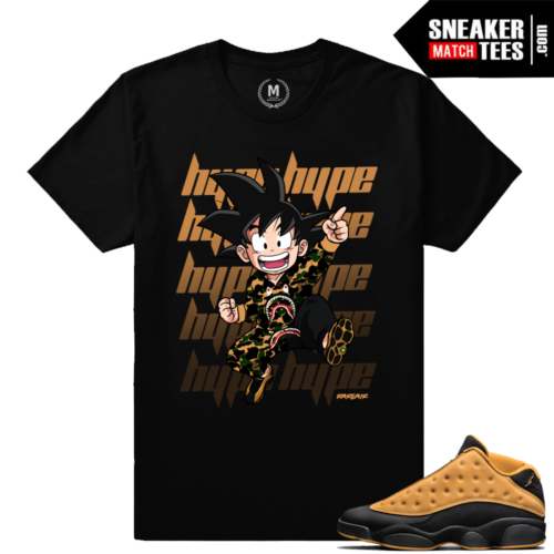 Sneaker tees to match Jordan 13s Chutney
