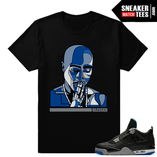 Tupac Shirt to Match Jordan 4 Motorsport Alternate