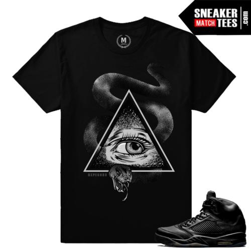 Air Jordan 5 Sneaker t shirt Black Pinnacle 5