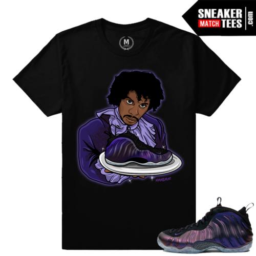 Nike Foamposite Eggplant sneaker tee shirt