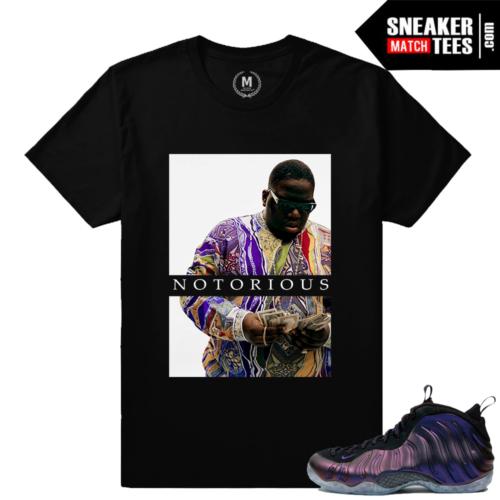 Eggplant foams sneaker match tee shirts