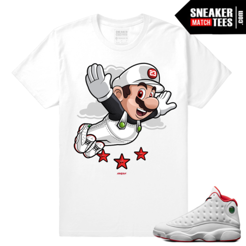 History of Flight 13s sneaker match shirt