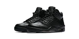 Jordan 5 Pinnacle Black Sneaker Match Tees