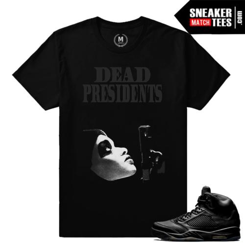 Jordan 5 sneaker tee Pinnacle Black