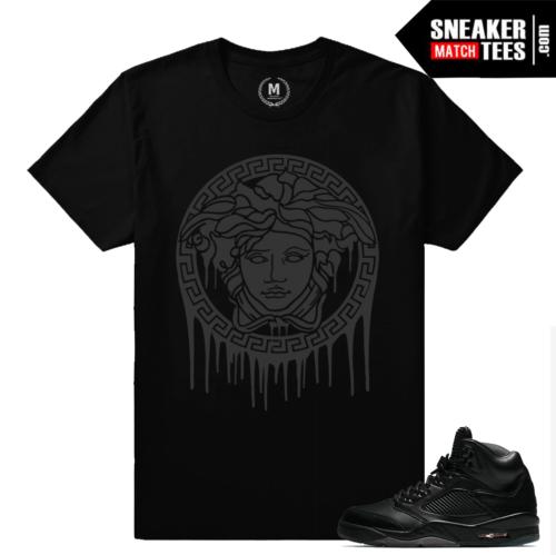 Sneaker tees Jordan 5 Black Pinnacle