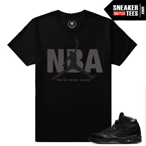 T shirt Jordan 5 Black Pinnacle