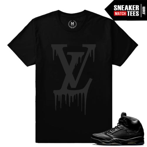 retro 5 sneaker tees shirt Pinnacle Black