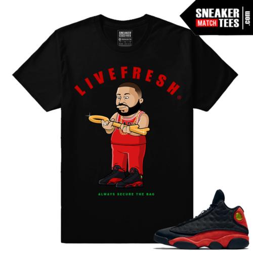 Bred 13 Jordans shirts to match streetwear
