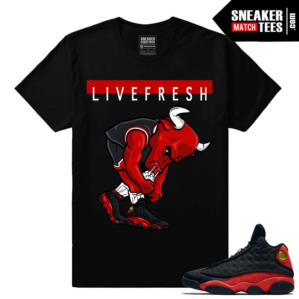 Bred 13s live fresh bull Sneaker tee