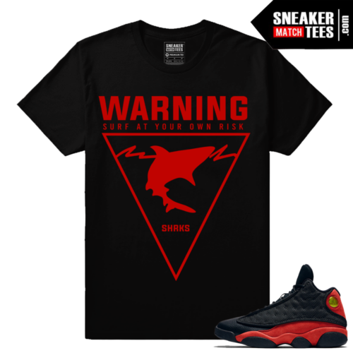 Bred 13s sneaker tees to match Streetwear Clothing