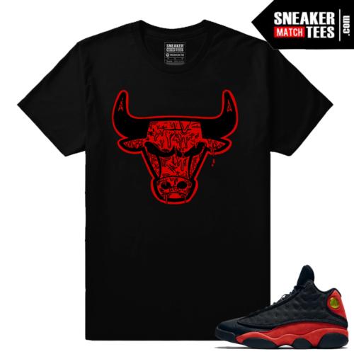 Bred Jordan 13 match Bull Drip Sneaker tee shirt