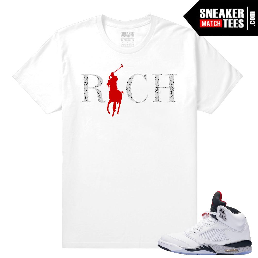 4413034a04a ... Fresh Pair Shirt Cement Jordan 5 Sneaker tees PHOTOSHOOT READY Women39s  T-Shirt to match Jordan 5 Blue Suede ...