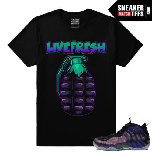 Foamposites Eggplant Sneaker Matching Shirt