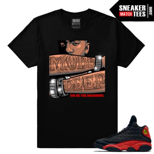 Jordan 13 Bred Shirt to match Mobb Deep Streetwear