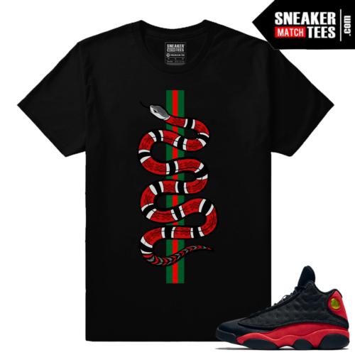 Jordan 13 Bred matching Streetwear sneaker tees shirt