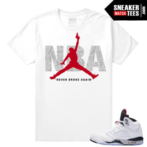 Jordan 5 t shirt Cement