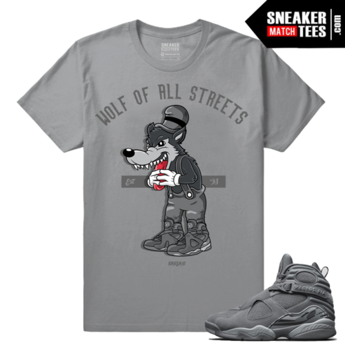 Jordan 8 Cool Grey Sneaker tees shirts