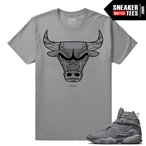 Jordan 8 Cool Grey shirts to match