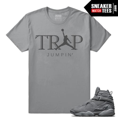 Jordan 8 Sneaker tees match Cool Grey 8s