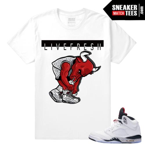 Jordan Cement 5 t shirts