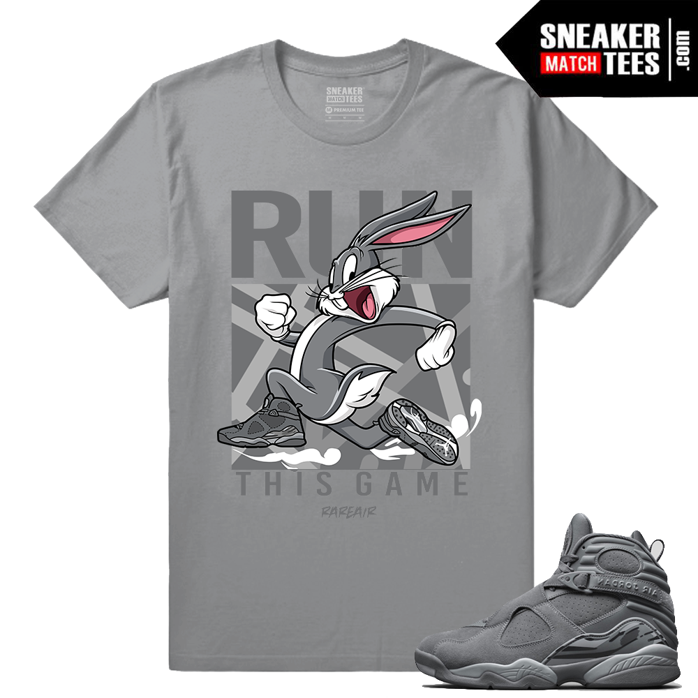 8b5ba7c79b3130 Jordan Retro 8 Cool Grey Matching Shirt - Cool Grey 8s Collection