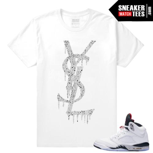 Jordan retro 5 Cement Streetwear tee