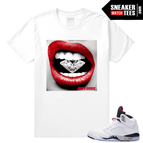 Retro 5 Cement sneaker tees