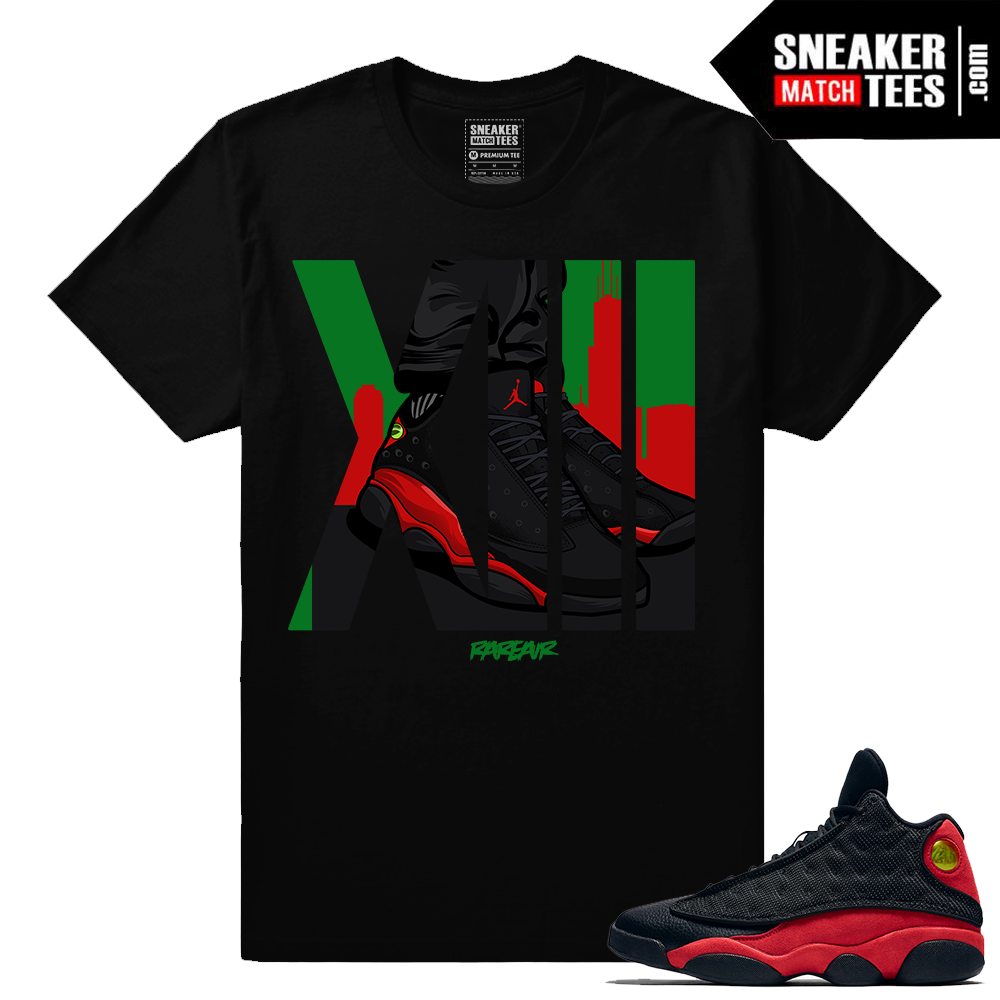 premium selection 52127 e7089 Retro Jordans 13 Bred Matching Rare Air 13 t shirt - Jordan 13 Collection
