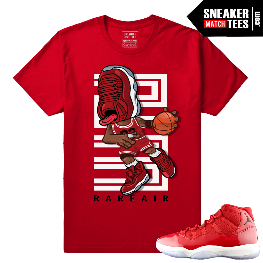 huge selection of 40993 a1f27 Sneakerhead - Gym Red 11s t shirt - Red
