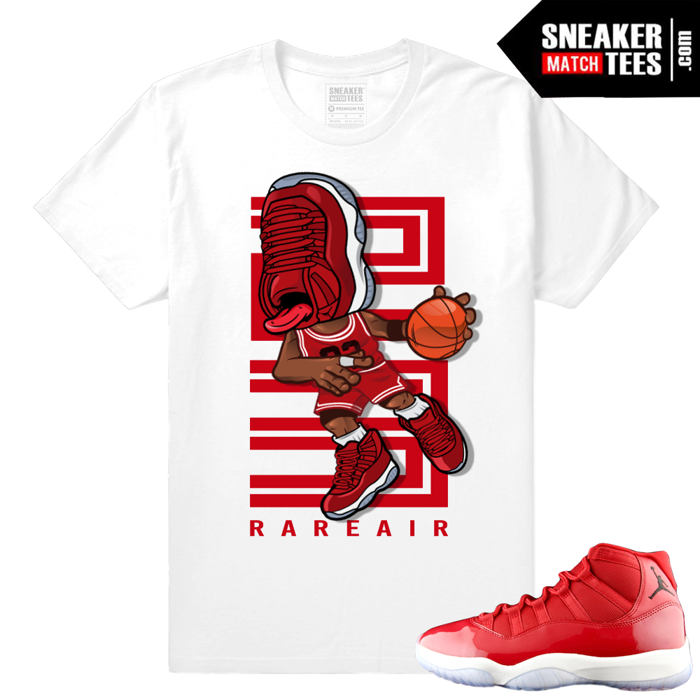 big sale 8f89f dd0da Sneakerhead - Jordan 11 Gym Red t shirt - White