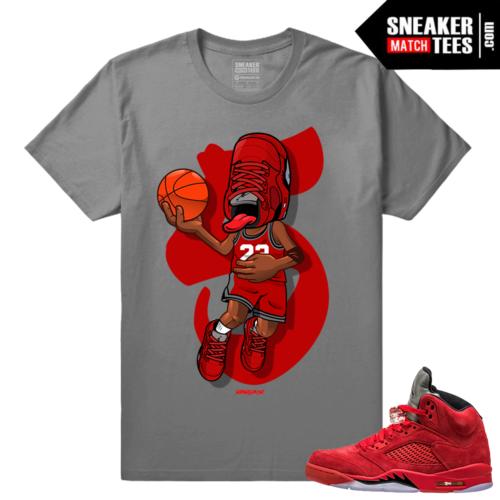 Sneakerhead Retro 5 Red Suede