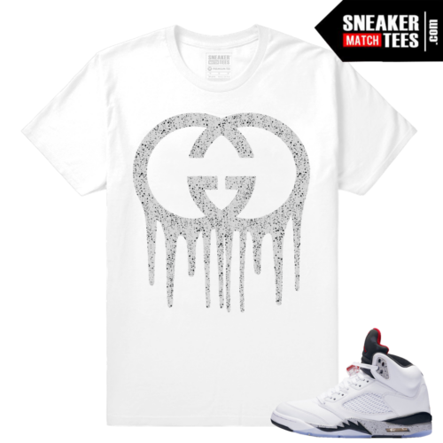 White Cement 5s t shirt