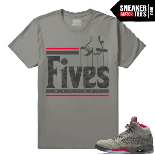 Air Jordan 5 Camo Matching Sneaker tees