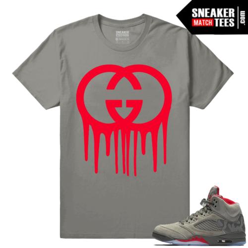 Air Jordan 5 Camo Sneaker tees